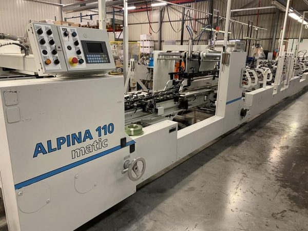 2003 Bobst Alpina 110 A3 Matic – Folder/ Gluer